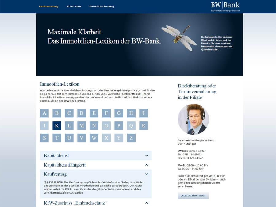 BW-Bank: Immobilien-Lexikon
