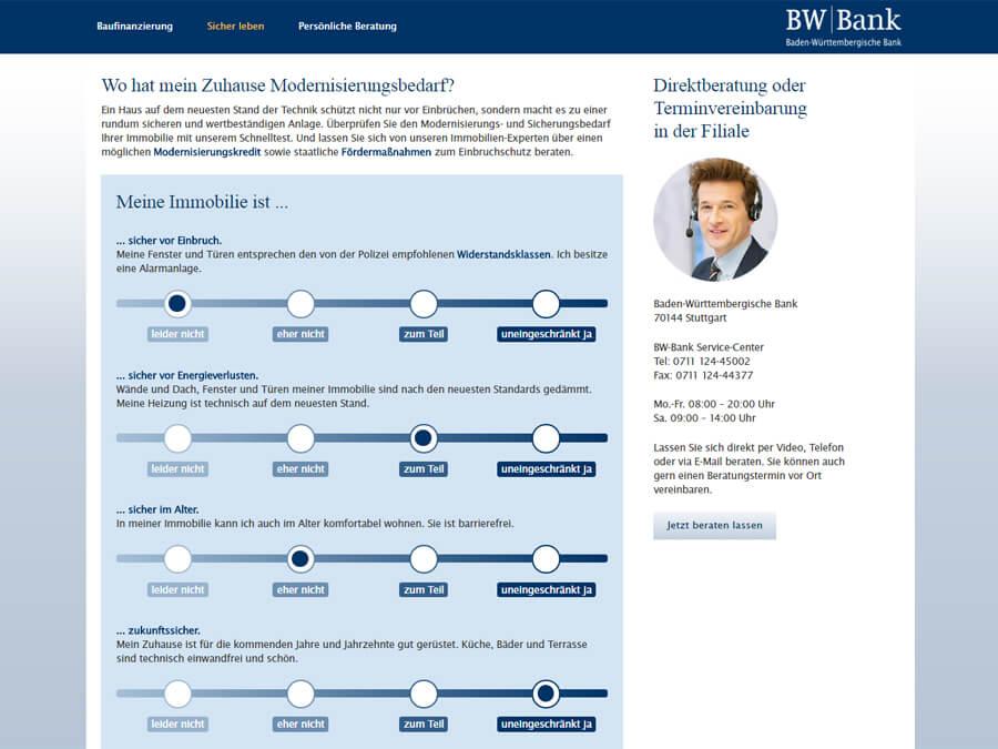 BW-Bank: Schnelltest mit anschließender automatisierter PDF-Generierung