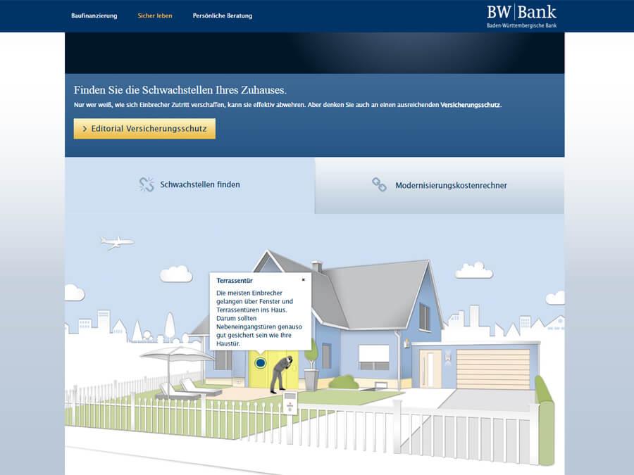 BW-Bank: Interaktive Infografik - Schwachstellen finden